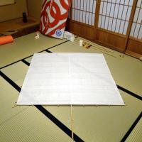 自作浜松凧 和紙張り編