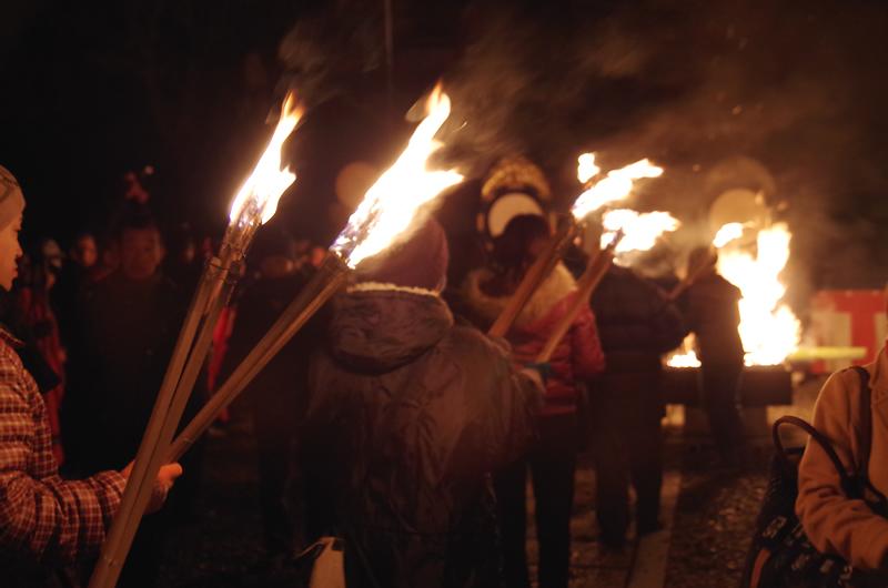 可睡斎 秋葉の火祭り