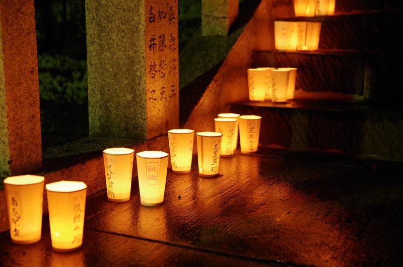 可睡斎 秋葉の火祭り 灯籠