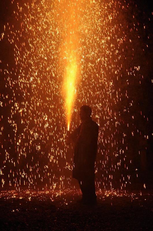 可睡斎 秋葉の火祭り 手筒花火