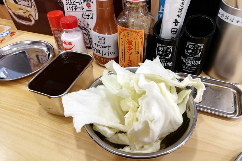 串カツ田中 浜松モール街店 おかわり自由のキャベツ