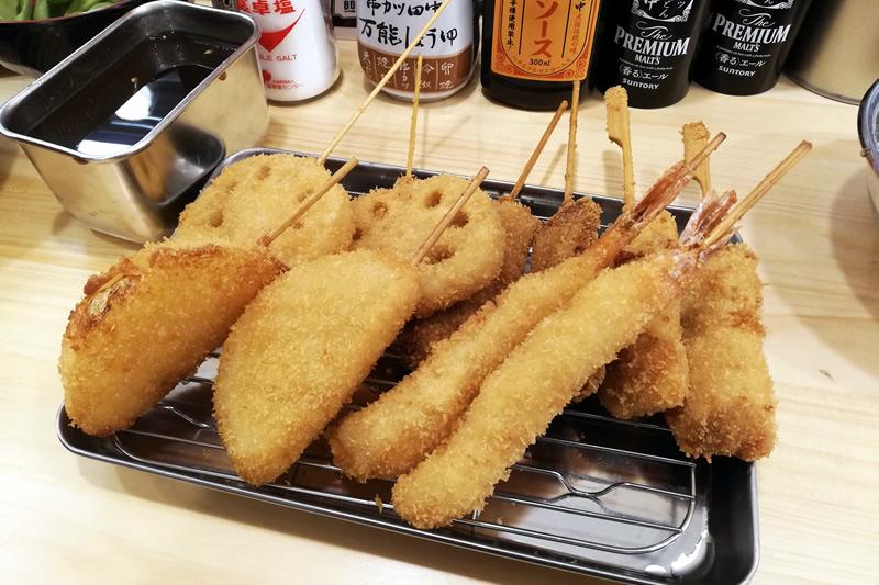 串カツ田中 浜松モール街店 5品盛り