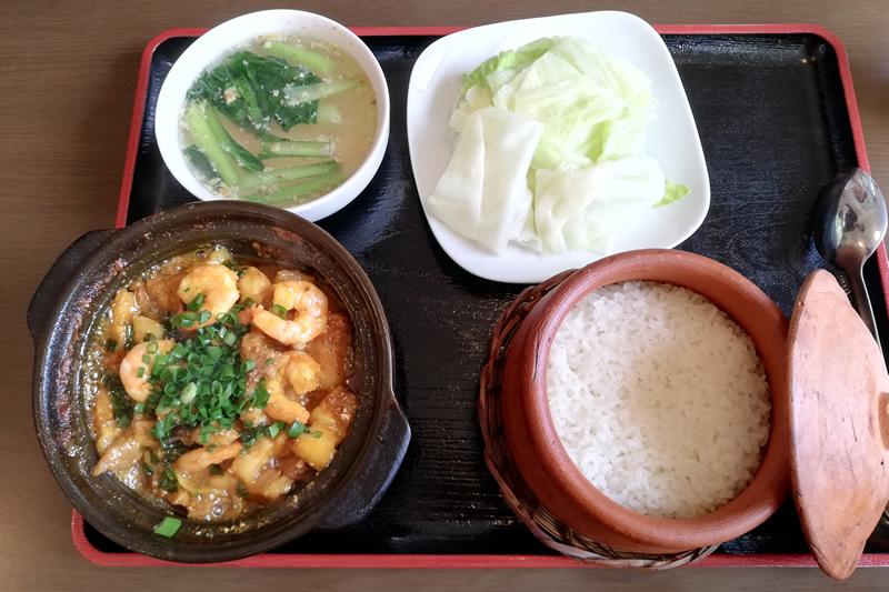ベトナム料理ニエウクアン ユムニエムセット エビと豚肉角煮
