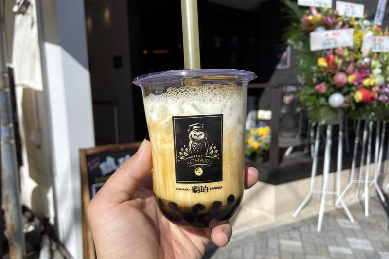 琥珀(こはく)浜松店 黒糖パールミルク