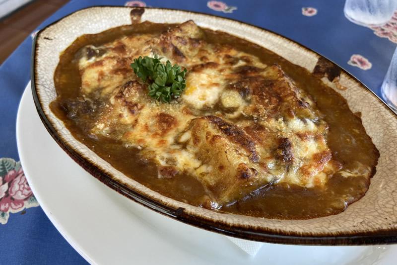 クッチェッタ チーズの焼きカレー